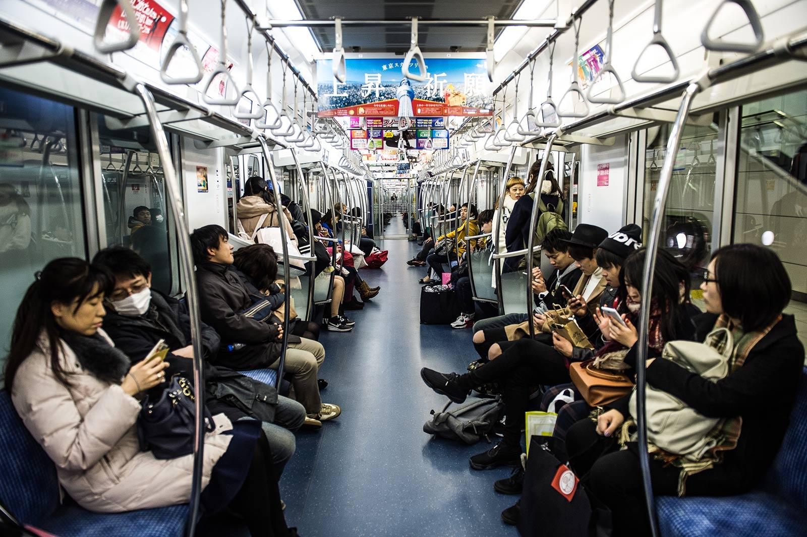 tàu điện ngầm nhật bản