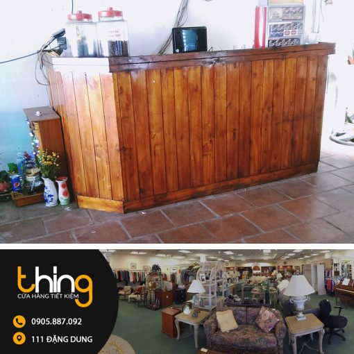 quầy bar cũ gỗ pallet