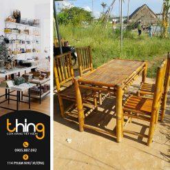 Bàn ghế tre cho nhà hàng, quán ăn