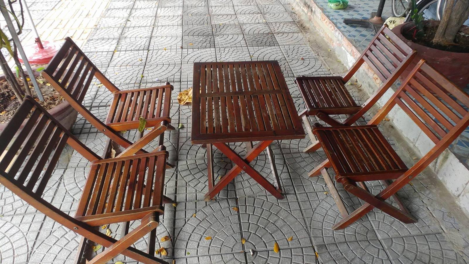 bàn ghế cafe xếp thanh lý