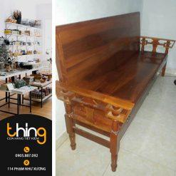 Ghế Salon gỗ tự nhiên (Mở ra thành giường)
