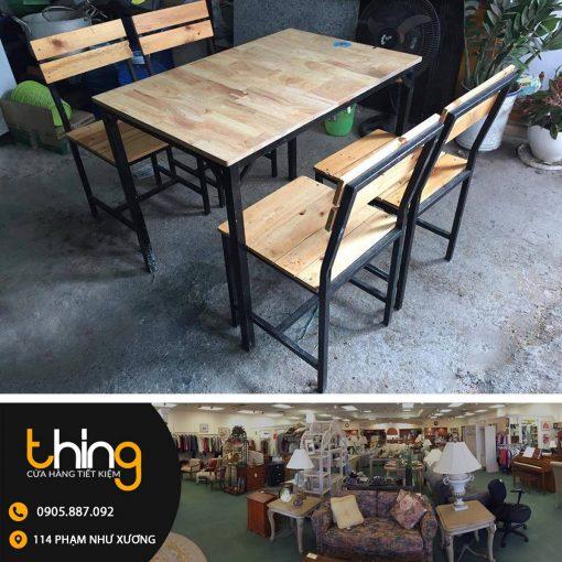 Bàn ghế Cafe, quán nhậu chân sắt mặt gỗ