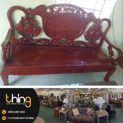 ghế salon gỗ nhãn rừng